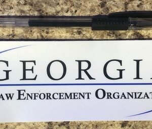 White Georgia LEO Sticker