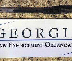 White Georgia LEO Sticker