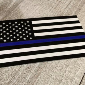 5.5″ Thin Blue Line Flag Sticker