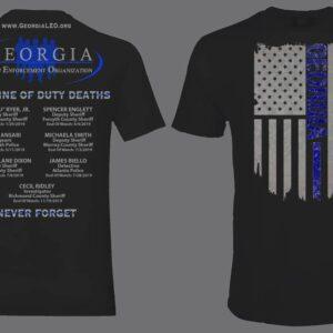 2019 Georgia Law Enforcement Officer Memorial Shirt – BLACK